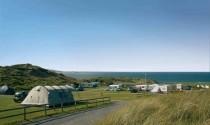 Tents and camping pitches at Beachside Holiday Park