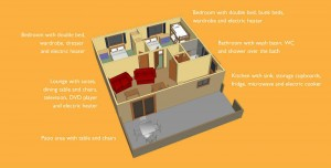 Captioned layout self catering bungalow