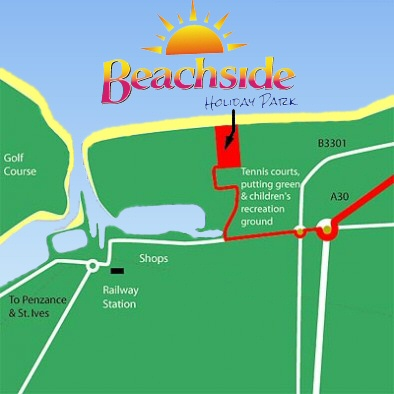 How to find us at Beachside Holiday Park