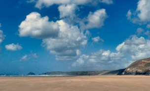 General view of Watergate Bay, Cornwall