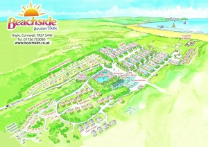 beachside holiday park map