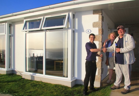 First Guests Check Into New Seafront Lodges