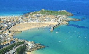 St Ives Bay Cornwall Aerial Photo