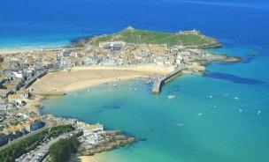 St Ives Bay Cornwall Aerial Photo