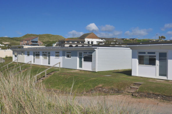 Exterior view of new apartment accommodation at Beachside Holiday Park, Cornwall