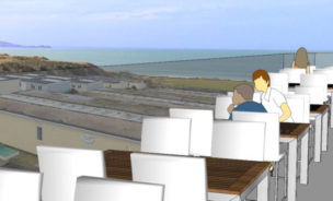 View of St Ives Bay from new Beachside bar balcony