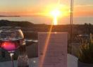 Enjoying a drink on Beachside Holiday Park's new bar terrace